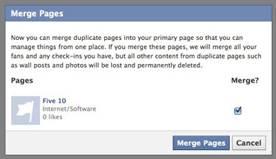 Merge Pages Confirmation