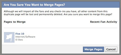 Are you sure you're sure you want to merge pages?