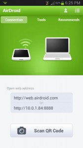 Airdroid App Connection Screen
